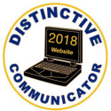 2018 Distinctive Communicator Award for Website